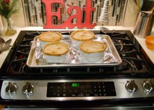 reheating chicken pot pies in oven